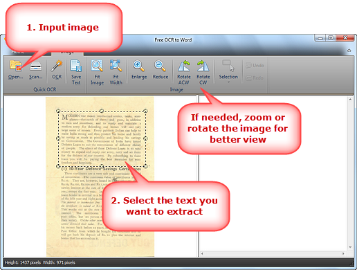 Select the Text to Extract